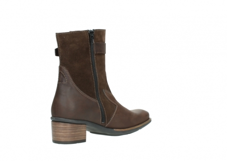 wolky mid calf boots 00934 dalton 50300 brown oiled leather_10