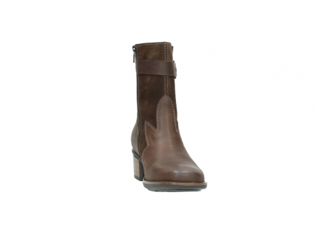 wolky mid calf boots 00934 dalton 50300 brown oiled leather_18