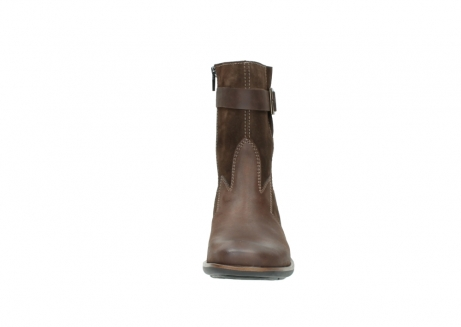 wolky mid calf boots 00934 dalton 50300 brown oiled leather_19