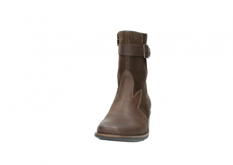wolky mid calf boots 00934 dalton 50300 brown oiled leather_20