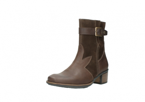 wolky mid calf boots 00934 dalton 50300 brown oiled leather_22
