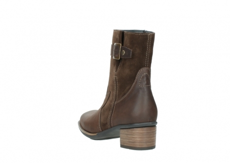 wolky mid calf boots 00934 dalton 50300 brown oiled leather_5