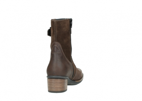 wolky mid calf boots 00934 dalton 50300 brown oiled leather_8