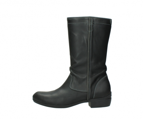 wolky mid calf boots 00953 silverado 50002 black leather_1