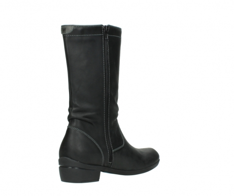 wolky mid calf boots 00953 silverado 50002 black leather_10