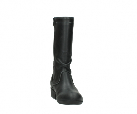 wolky mid calf boots 00953 silverado 50002 black leather_18