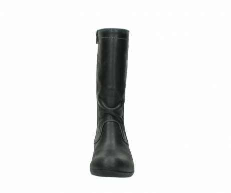 wolky mid calf boots 00953 silverado 50002 black leather_19