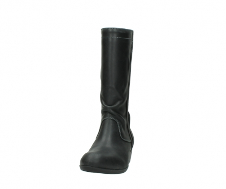 wolky mid calf boots 00953 silverado 50002 black leather_20