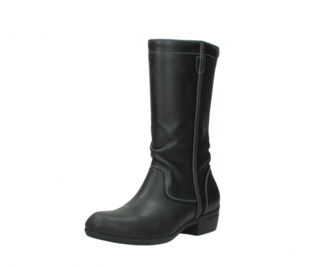 wolky mid calf boots 00953 silverado 50002 black leather_22
