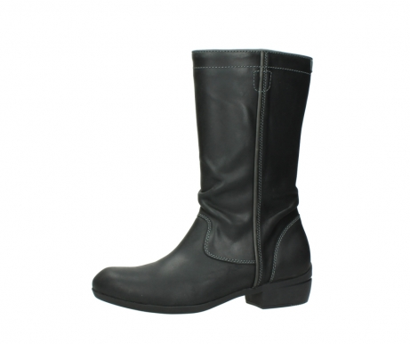 wolky mid calf boots 00953 silverado 50002 black leather_24