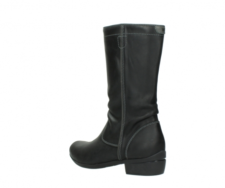 wolky mid calf boots 00953 silverado 50002 black leather_4