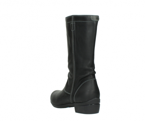 wolky mid calf boots 00953 silverado 50002 black leather_5