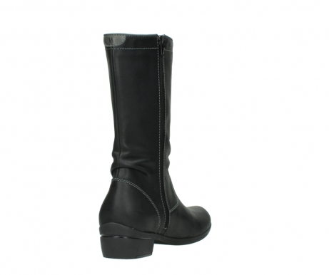 wolky mid calf boots 00953 silverado 50002 black leather_9