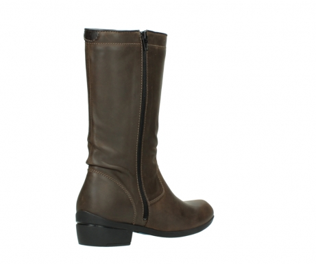 wolky mid calf boots 00953 silverado 50152 taupe leather_10