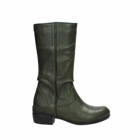 wolky mid calf boots 00953 silverado 50732 forestgreen leather