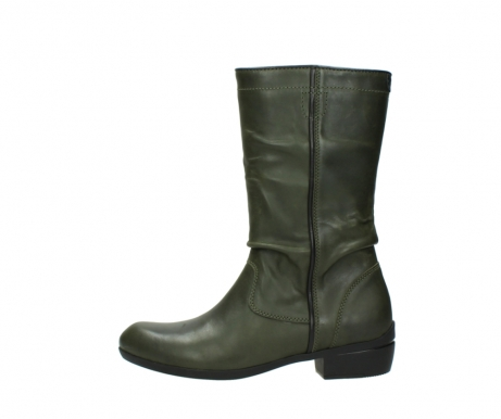wolky mid calf boots 00953 silverado 50732 forestgreen leather_1