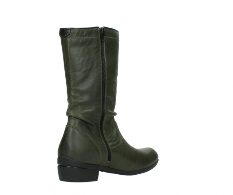 wolky mid calf boots 00953 silverado 50732 forestgreen leather_10