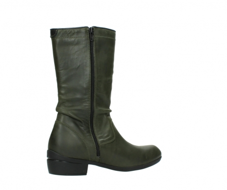 wolky mid calf boots 00953 silverado 50732 forestgreen leather_11
