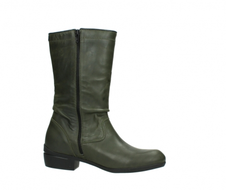 wolky mid calf boots 00953 silverado 50732 forestgreen leather_14
