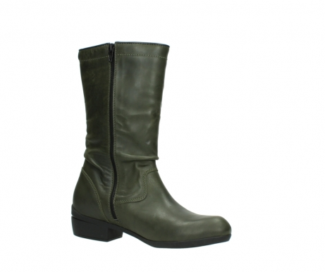 wolky mid calf boots 00953 silverado 50732 forestgreen leather_15
