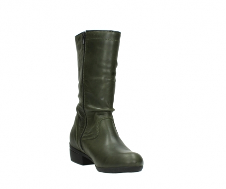 wolky mid calf boots 00953 silverado 50732 forestgreen leather_17