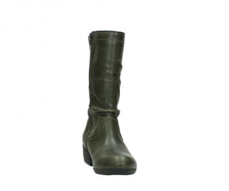 wolky mid calf boots 00953 silverado 50732 forestgreen leather_18