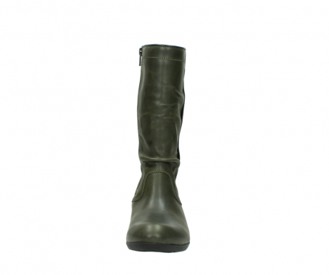 wolky mid calf boots 00953 silverado 50732 forestgreen leather_19