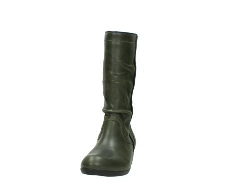 wolky mid calf boots 00953 silverado 50732 forestgreen leather_20