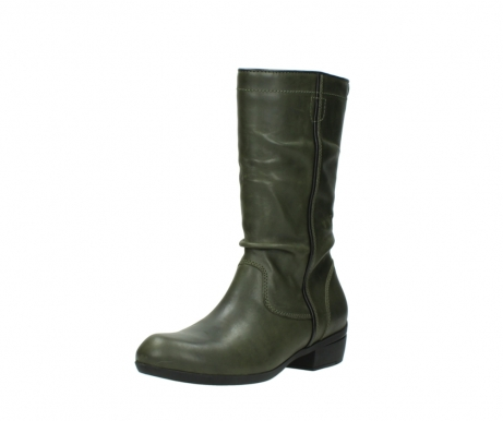 wolky mid calf boots 00953 silverado 50732 forestgreen leather_22