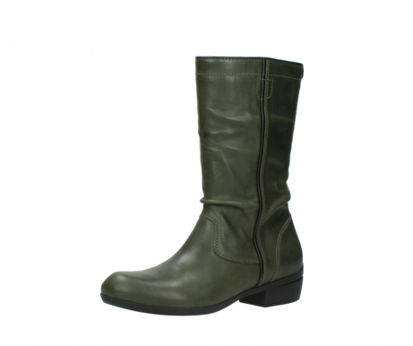 wolky mid calf boots 00953 silverado 50732 forestgreen leather_23