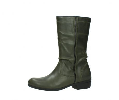 wolky mid calf boots 00953 silverado 50732 forestgreen leather_24
