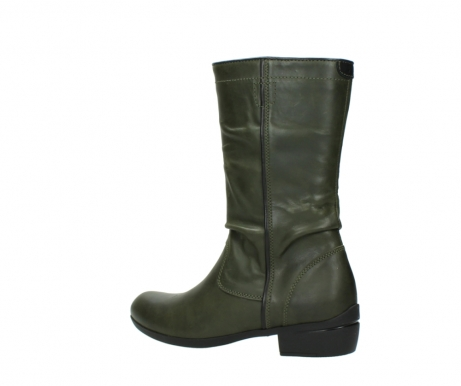 wolky mid calf boots 00953 silverado 50732 forestgreen leather_3