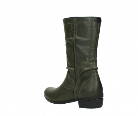 wolky mid calf boots 00953 silverado 50732 forestgreen leather_4