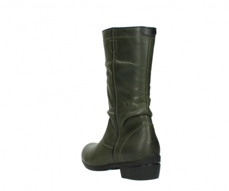 wolky mid calf boots 00953 silverado 50732 forestgreen leather_5