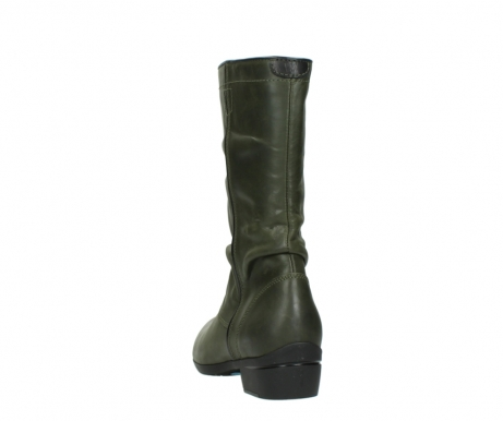 wolky mid calf boots 00953 silverado 50732 forestgreen leather_6
