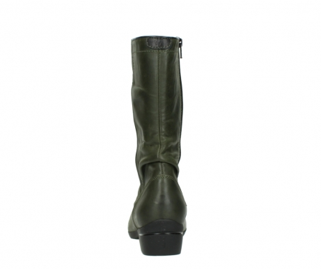 wolky mid calf boots 00953 silverado 50732 forestgreen leather_7