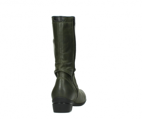 wolky mid calf boots 00953 silverado 50732 forestgreen leather_8