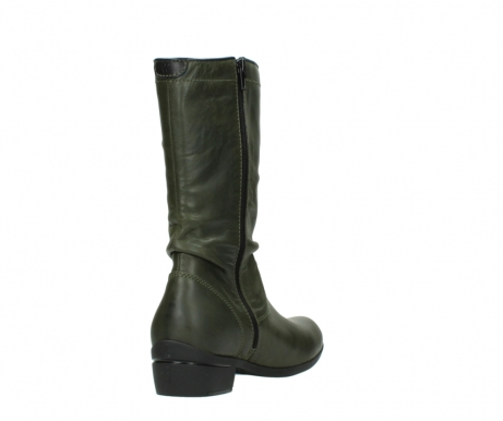 wolky mid calf boots 00953 silverado 50732 forestgreen leather_9