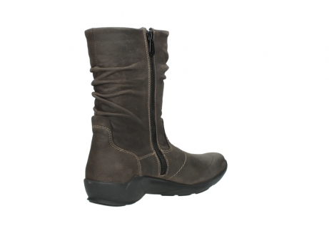 wolky mid calf boots 01572 luna 10300 brown nubuck_10