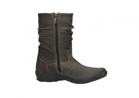 wolky mid calf boots 01572 luna 10300 brown nubuck_14