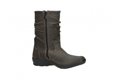 wolky mid calf boots 01572 luna 10300 brown nubuck_15