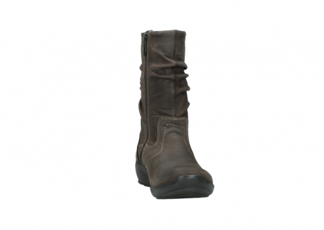wolky mid calf boots 01572 luna 10300 brown nubuck_18