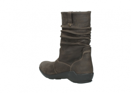 wolky mid calf boots 01572 luna 10300 brown nubuck_4