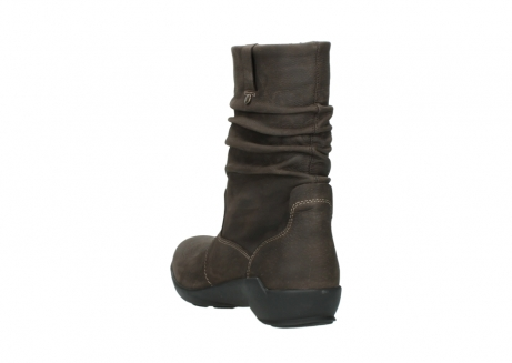 wolky mid calf boots 01572 luna 10300 brown nubuck_5