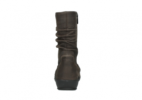 wolky mid calf boots 01572 luna 10300 brown nubuck_7