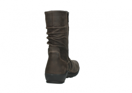 wolky mid calf boots 01572 luna 10300 brown nubuck_8