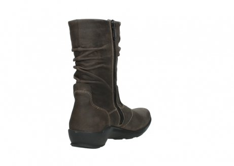 wolky mid calf boots 01572 luna 10300 brown nubuck_9