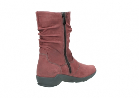 wolky mid calf boots 01572 luna 10510 burgundy nubuck_10