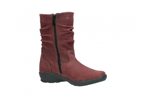 wolky mid calf boots 01572 luna 10510 burgundy nubuck_15