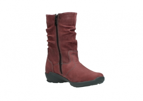 wolky mid calf boots 01572 luna 10510 burgundy nubuck_16